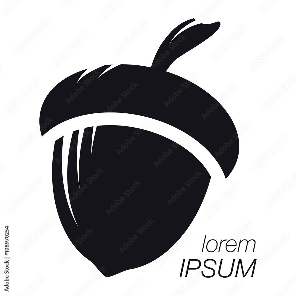Photo Art Print Acorn Logo Silhouette Template Company Europosters