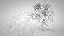 3D Illustration Of Metal Ornate Plant
