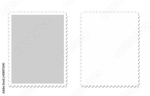 Briefmarken Vektor Canvas Print