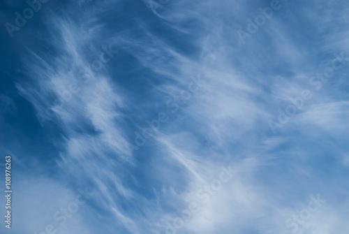 Blue sky with cirrus clouds Fototapeta