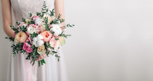 Beautiful Wedding Bouquet In H...