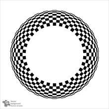 Vector Graphic #Checkered Circ...