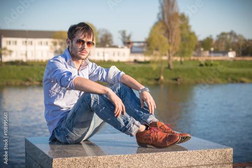 Fototapeta Mężczyzna młody  obraz na płótnie