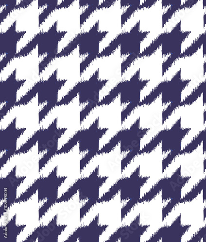 Photo  Hand drawn ikat houndstooth seamless pattern