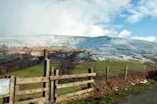 Winter Upon The Brecon Beacons Of Wales.