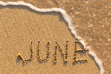 June - Word Drawn On The Sand ...