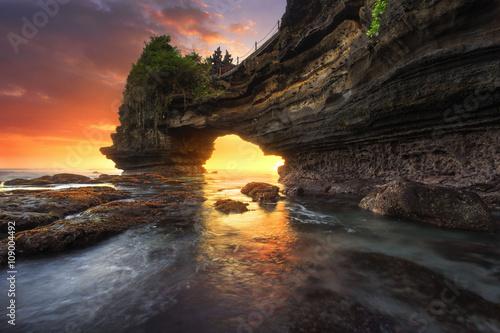 Foto op Aluminium Bali Sunset at Batu Bolong & Tanah Lot - Bali, Indonesia