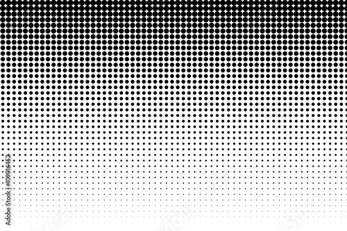 Photo  Basic halftone dots effect in black and white color