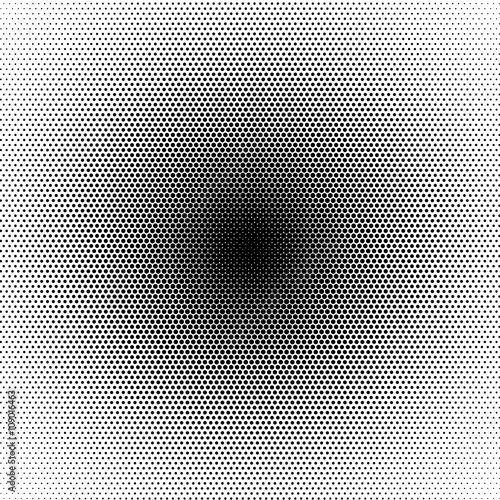 basic halftone circle dots effect in black and white color halftone