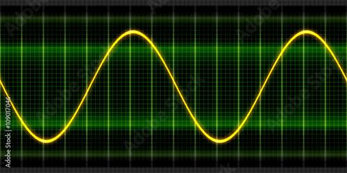 Fotografie, Obraz  Texture wave oscilloscope