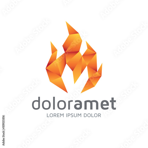 m fire low poly logo buy this stock vector and explore similar vectors at adobe stock adobe stock m fire low poly logo buy this stock