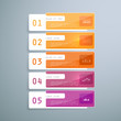 Elements for infographic, 5 part, step of process