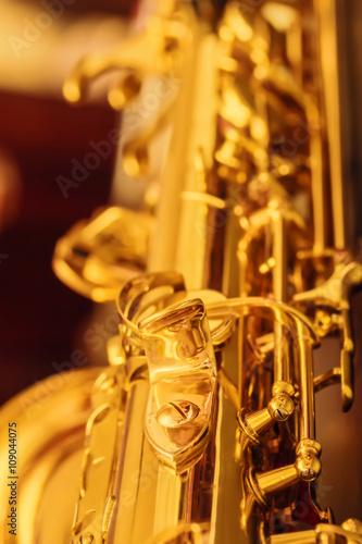 Detail of saxophone Canvas Print