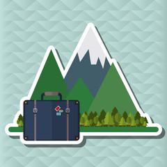 Illustration of travel, editable vector