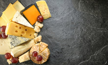 Various Types Of Cheese With E...