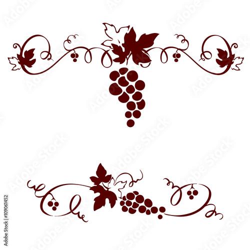 Set design elements -- grape Fototapete
