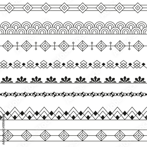 Photographie  Art Deco Borders Style Line and Geometric Linear Design -variable line-