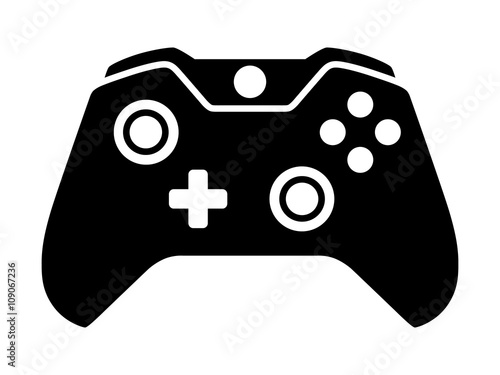 Video game controller or gamepad flat icon for apps and websites Canvas Print