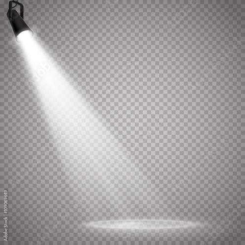 Recess Fitting Light, shadow Vector Isolated Spotlight