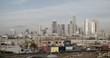 LOS ANGELES, CA, USA - DECEMBER 2015: Locked off shot of Downtown, viewed across the Arts District, morning. Originally recorded in 4K DCI.