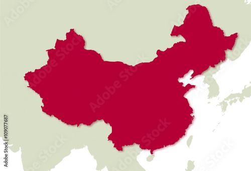 Karte Chinas mit Provincen und Anrainer @p(AS)ob