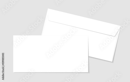 Fototapeta Blank paper envelopes for your design. Vector envelopes template. obraz