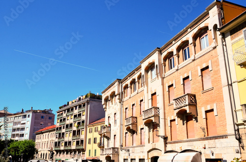 historic buildings in the old town of Acqui terme Canvas Print