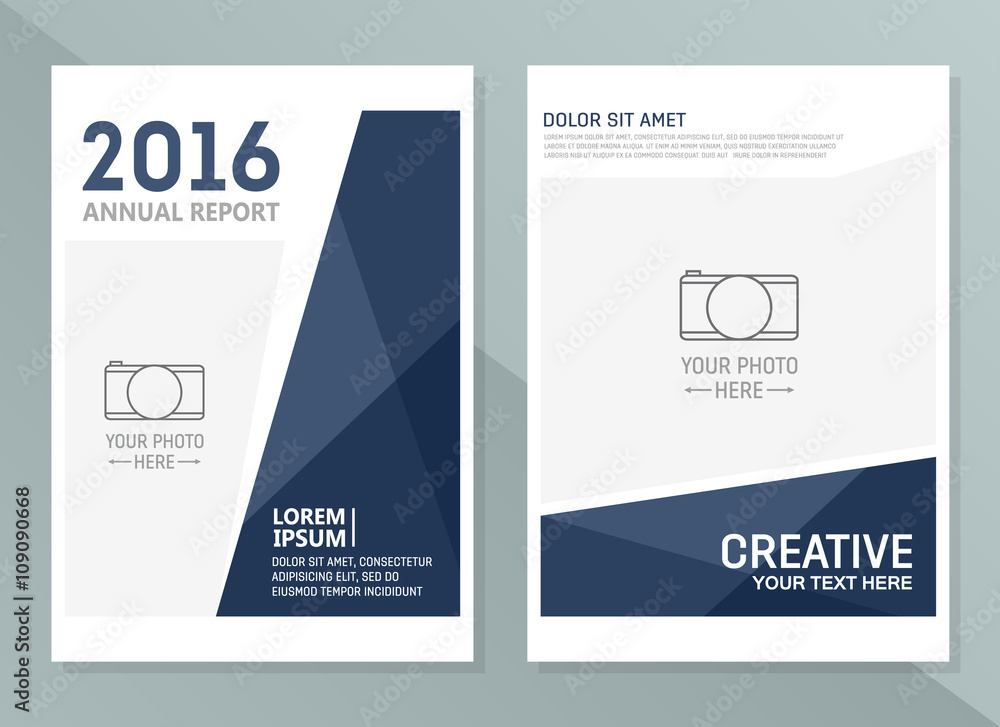 Fototapeta Vector annual report design templates. Business brochure, flyer and cover design layout template