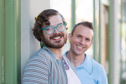 Fotografie, Obraz  Two Gender Fluid Young Men