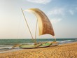 Fishermen's Catamaran on the Beaach near Negombo, Sri Lanka