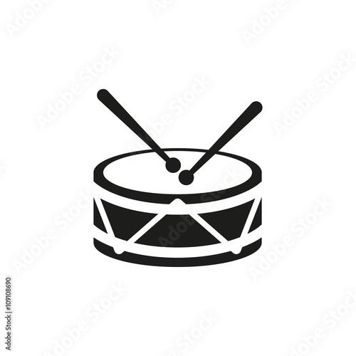 Drum icon Fototapet