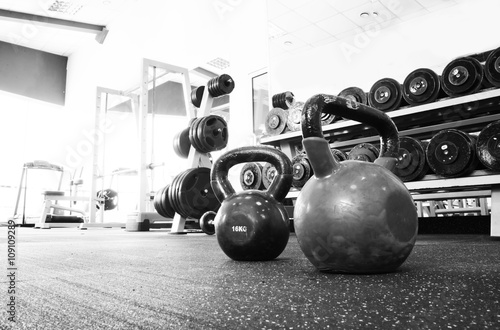 Photo sur Toile Fitness Old gym interior with equipment