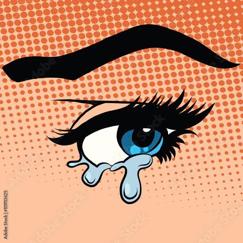 Fotografía  Woman eyes tears crying