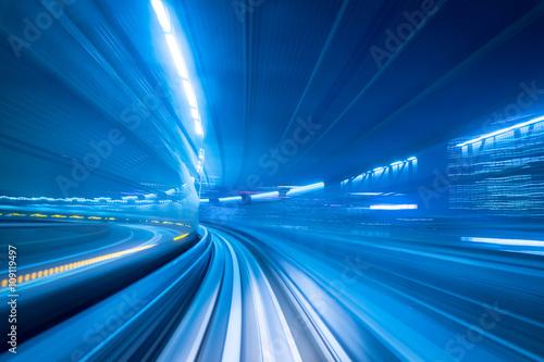 Motion blur of a city