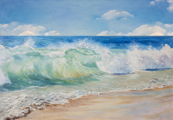 Panel Szklany Marynistyczny Beautiful, blue, tropical sea and beach.