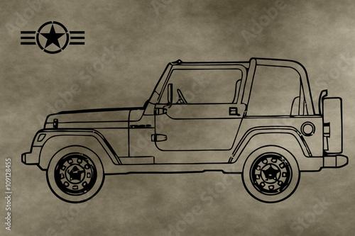 Cuadros en Lienzo jeep wrangler