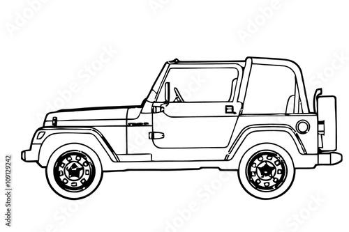Cuadros en Lienzo jeep