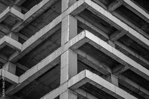 Fotografie, Tablou Modern concrete building structure under construction
