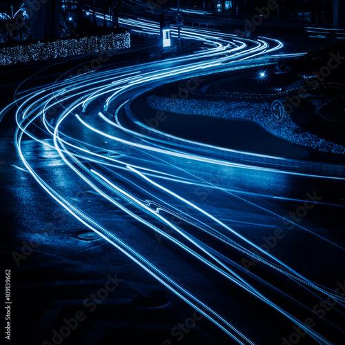 traffic light trails #109139662