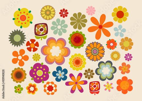 Cuadros en Lienzo Fleurs des années soixante-dix (part 2)