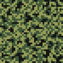 Digital Pixel Camouflage Seaml...