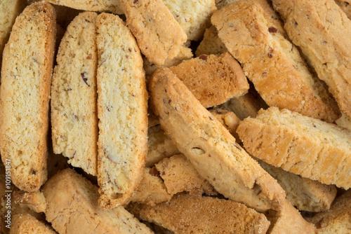 Slika na platnu Close view of almond nut biscotti