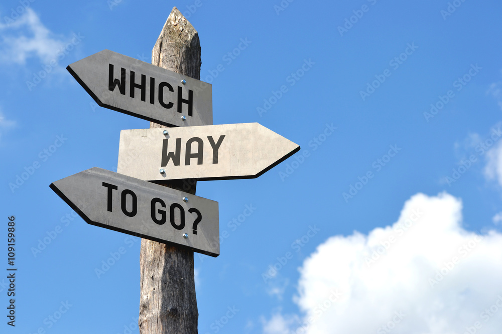 Fototapety, obrazy: Which way to go? Signpost