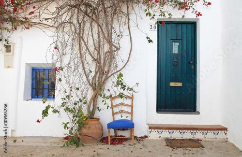 casa con silla pueblo blanco andalucía nijar 3274-f16