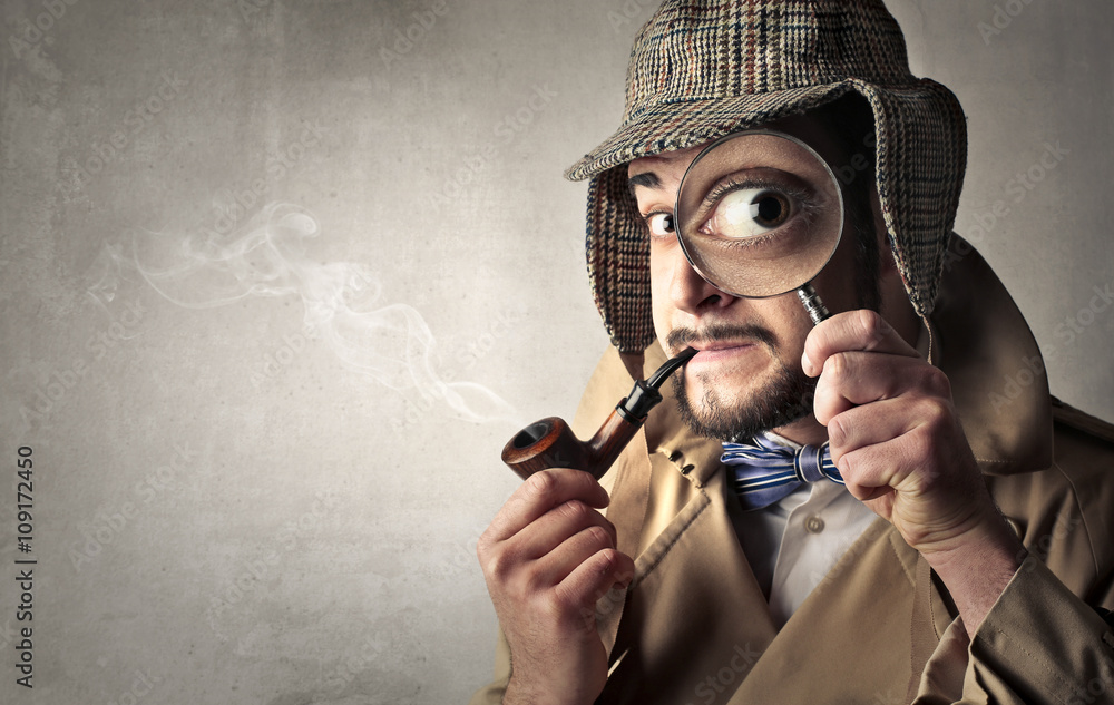 Fototapeta Retro dressed detective