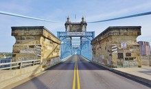 The Roebling Suspension Bridge...