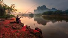Fisher In Krabi, Thailand