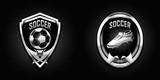 Fototapeta Sport - soccer chrome emblems