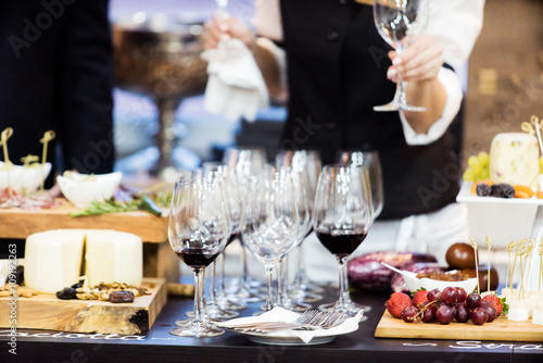 Photo Stands Assortment catering table