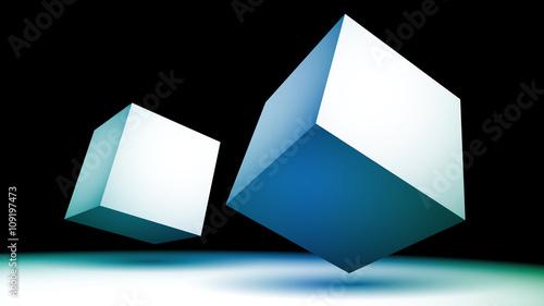 niebieskie sześciany wektor